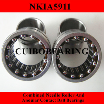 NKIA  Combined Needle Roller And Angular Contact Ball Bearing NKIA5911 55X80X34