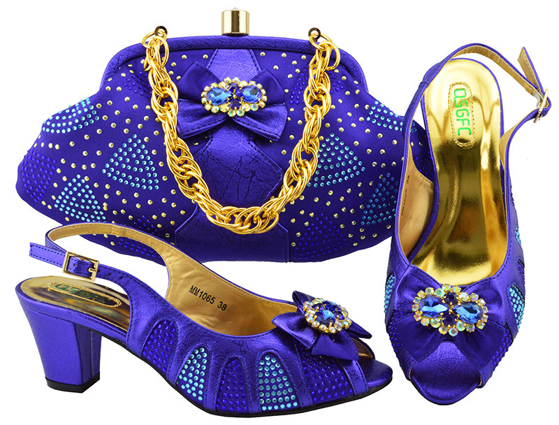New Violet Color Italian Shoes with Matching Bags African Shoe and Bag Set Italian Design African Shoes and Bag Set for Parties 2018 new arrival pink color italian shoe with matching bags shoes and bag set african sets 2018 shoe and bag italian design sets