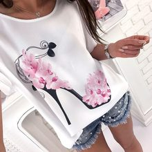 2019 Fashion Print Female T-shirt White Cotton Women Tshirts Summer Casual Harajuku T Shirt Femme Top Camiseta Feminina(China)