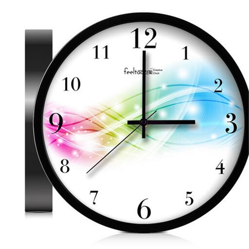 Metal Art Large Digital Wall Clock Mechanism Modern Metal Round Wall