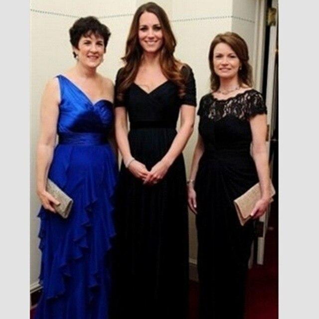 8cc31f060e9 C1036 Plus Size Cheap Kate Middleton Cap Sleeve Navy Blue Celebrity Dress  vestido longo de festa Red Carpet Dresses Evening Gown