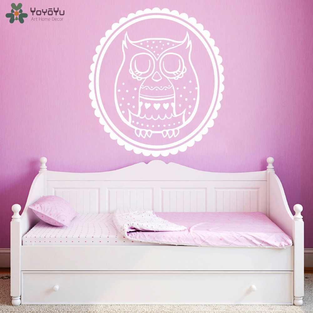 Decalque Da Parede coruja Padrão Animal Adesivos de Parede Para Quartos de Crianças Do Quarto Do Bebê Interior Removível Home Decor Sono Moderno Mural SY341