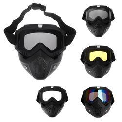 Gogle Motocross okulary ochronne maska przeciwpyłowa z odpinanymi gogle na motocykl