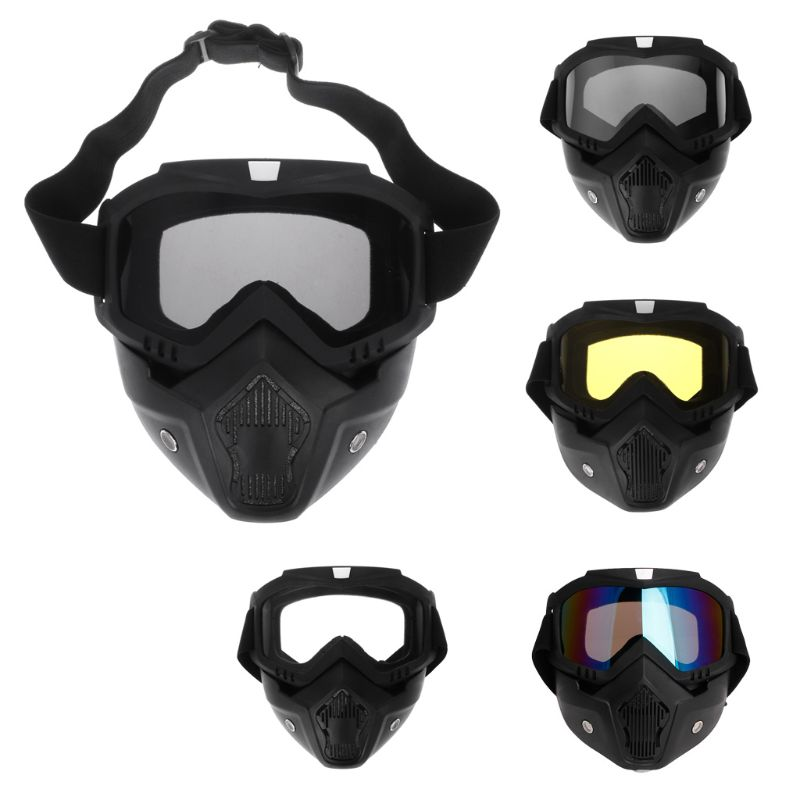 Motocross Goggles Face Glasses Dust Mask With Detachable Motorcycle Glasses