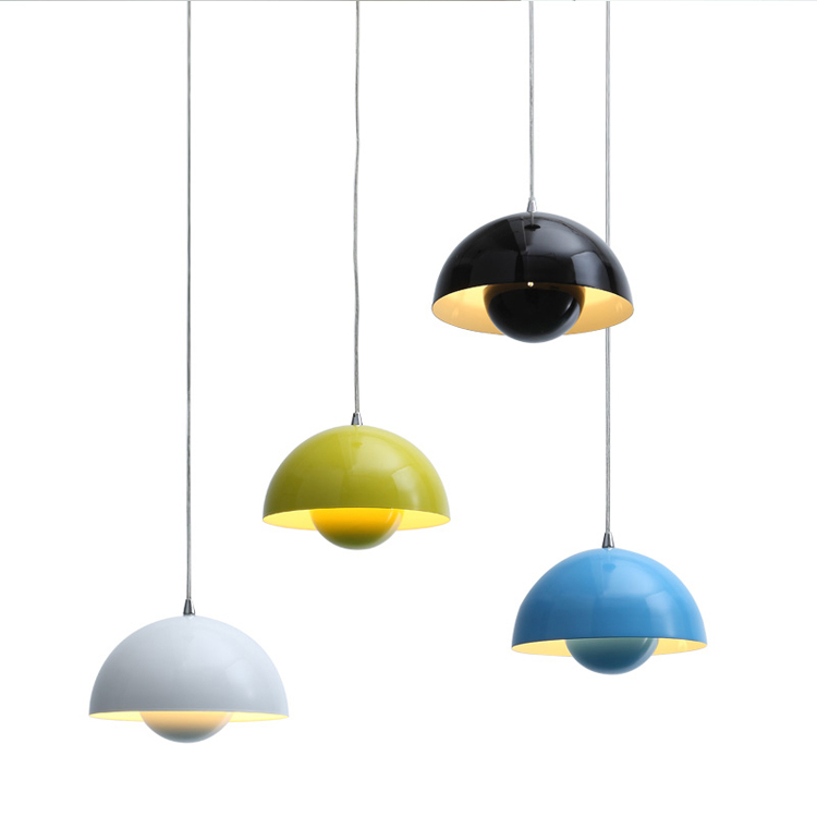 Modern Pendant Light Flower Pot Pendant Light Designed by Verner Panton Used in Bar and restaurant + Free shipping! free shipping hot selling verner panton design 3 circle diy shell pendant lamp