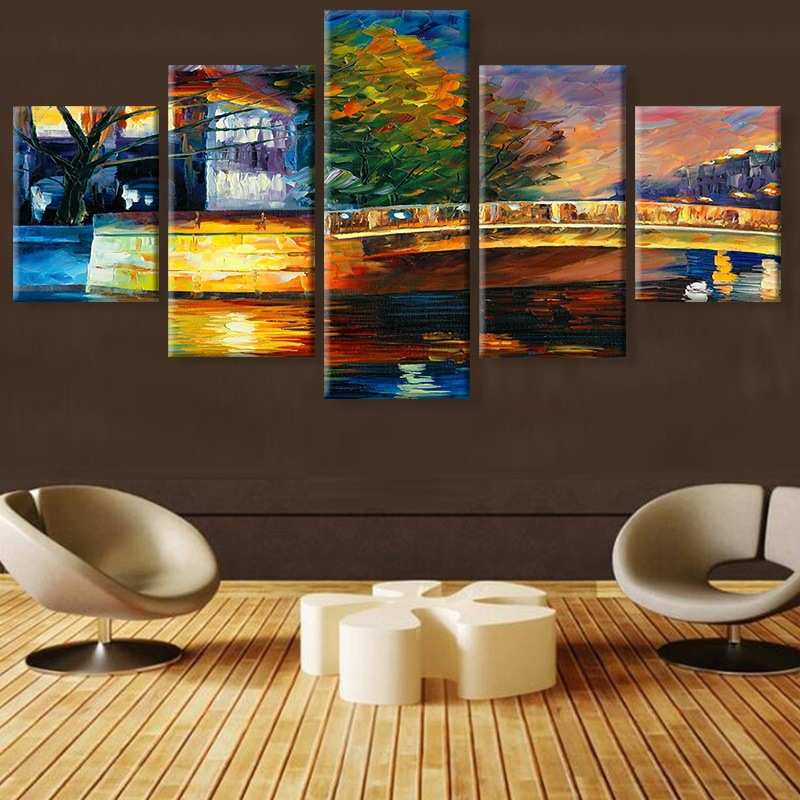 Van Gogh Bridge House Scenery Canvas Painting Prints Bedroom Home Decor Modern Wall HD Art Painting Posters Pictures Artwork in Painting Calligraphy from Home Garden