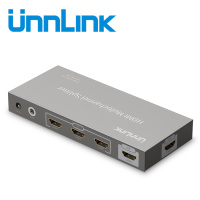 Unnlink HDMI 3 Input 2 Output HDMI Splitter HDMI Switch v1.4 Support UHD 4K@30Hz with IR Remote for Smart LED TV Box projector