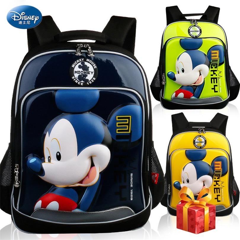 Disney 2019 Mickey Minnie imperméable sac à dos orthopédique sacs d'école pour garçons dessin animé fer homme cartable enfants cartable Grade 1-3