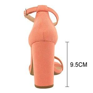 Image 4 - BIGTREE buty gorące wysokie obcasy nowe kobiety pompy klamra kobiet buty Party kobiety obcasy buty ślubne blok obcasy buty damskie 9.5 Cm
