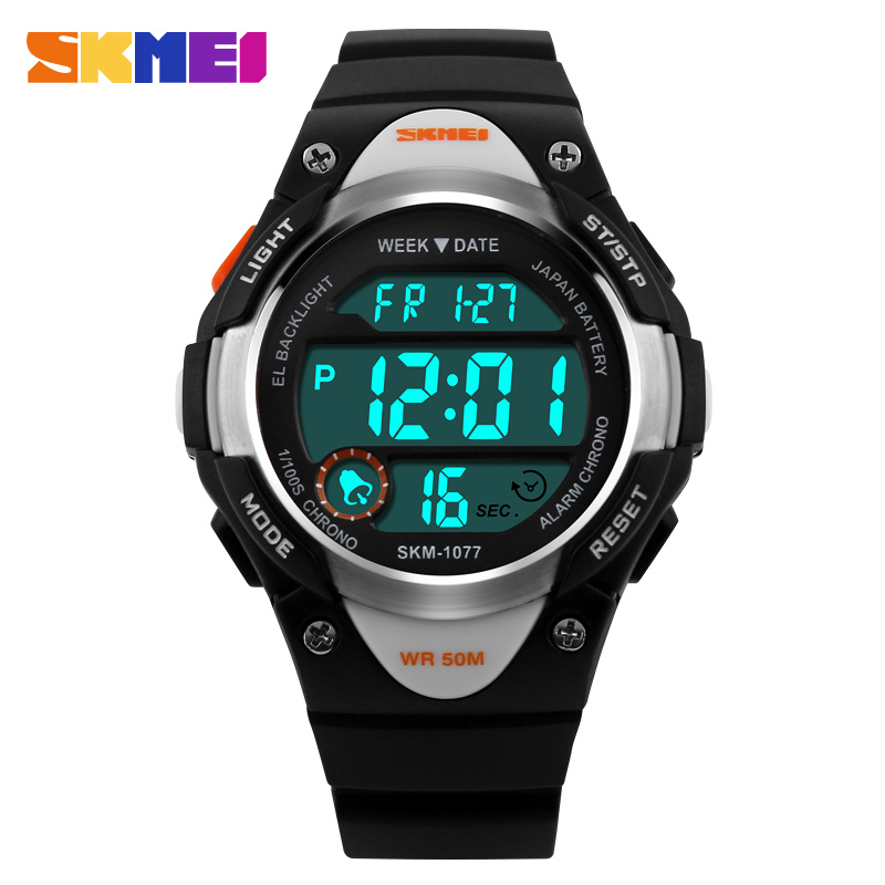 skmei Children Watches Digital Watch Sports Alarm Stopwatch Hour 50M Waterproof Dress Watches Children's Night Light function