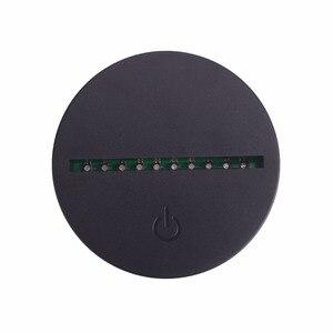 Image 2 - 10 unidades/lote de Bases de lámpara táctil de Cable USB para luz nocturna LED 3D, Base de luz de 7 colores, soporte de Decoración de mesa, Porta lámpara
