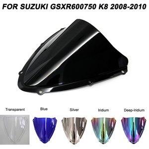 Para Suzuki 08-10 GSXR600 GSXR750 K8 2008 2009 2010 Motocicleta Motorbike Windscreen Windshield GSX-R GSXR 600 750 Acessórios
