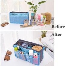 2019 Inside Cosmetic Bag Organizer Insert Women Travel Cosmetics Storage Organizor Makeup Space Save D40