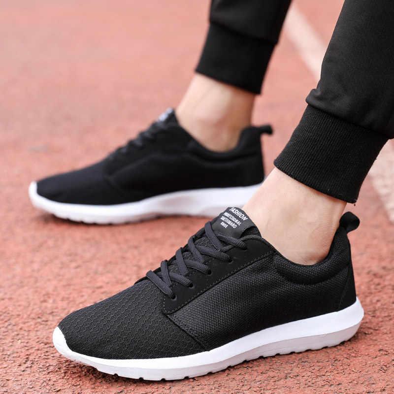 Hundunsnake Лето Для мужчин; спортивная обувь большой Размеры Man Кеды И Кроссовки сетчатая корзина Homme дышащая Спортивная Boty Для женщин Фитнес черный G-23