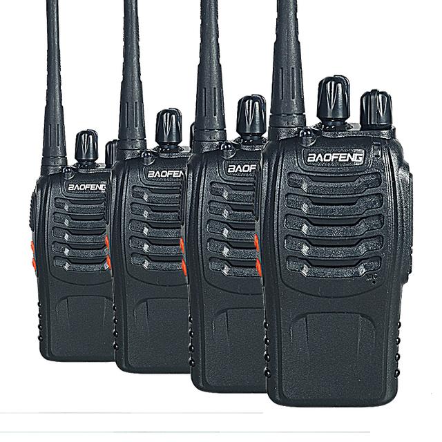 4 PCS Baofeng BF-888S Walkie Talkie Portátil com VHF UHF 5 W 16CH 400-470 MHz rádio em dois sentidos