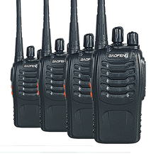 4PCS Walkie Talkie Baofeng BF-888S Portable with VHF UHF 5W 400-470MHz 16CH two way radio