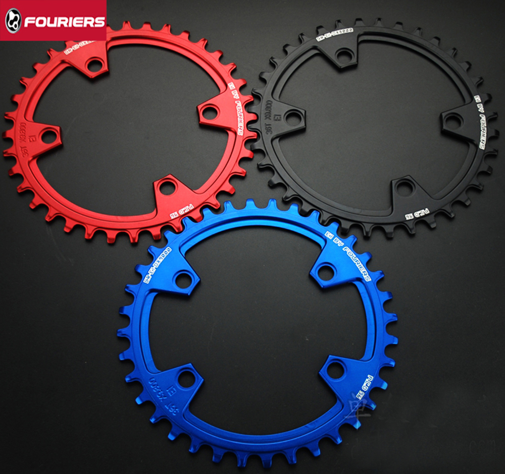 Fouriers CNC Single Speed Chainrings Chain Ring PCD BCD 96mm For M8000 M7000 with Bolts Narrow wide Teeth Chainwheel fouriers 7075 oval single chain ring 38t 40t 42t 44t 46t 48t chainrings bcd 104mm narrow wide tooth mtb bike chainwheel crank