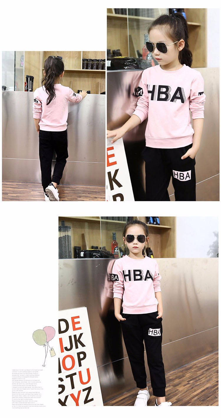 little teenage girls clothes sports suits girls outfits tracksuit autumn spring letters tops t shirts black pants tracksuits girls sets 5 6 7 8 9 10 11 12 13 14 15 16 years old little big teenage girl children sport sets clothing set for gir (6)