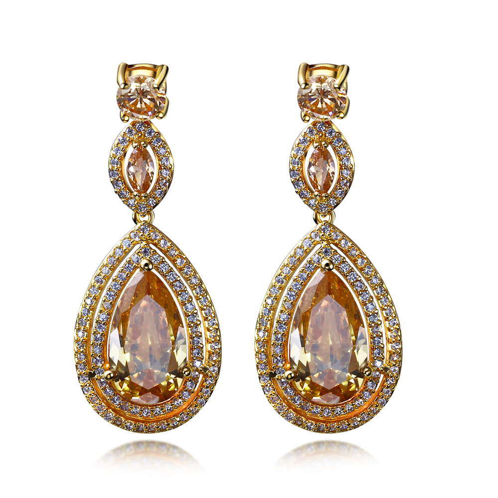 Latest Jewelry Women Luxury Drop Earrings High Quality Aaa Cubic Zirconia Fashion Bridal Accessory In From Accessories