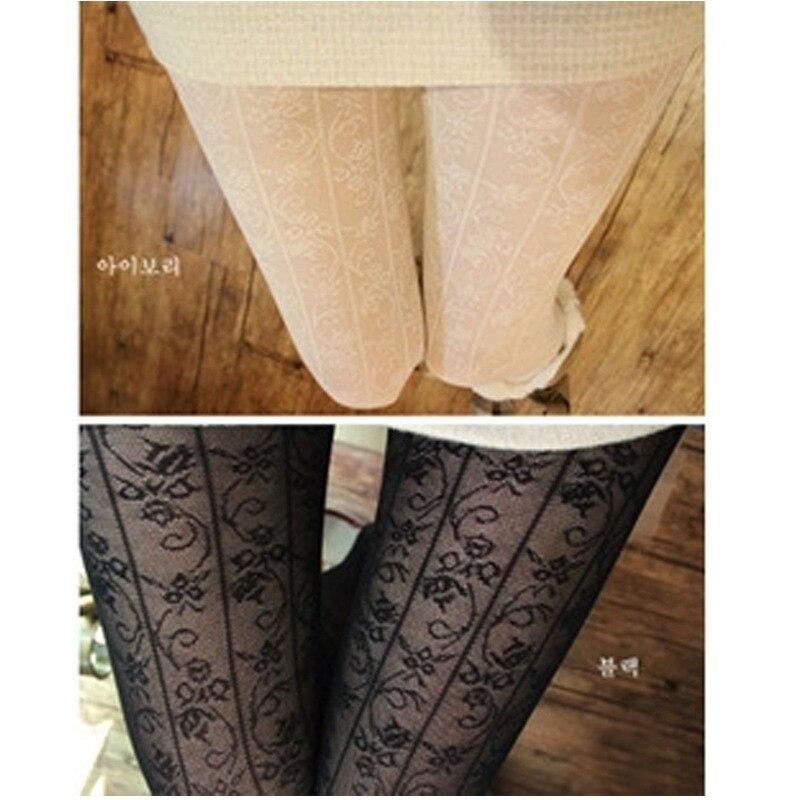 W729 Fashion Womens Sexy Pattern Jacquard Pantyhose Tights Stockings Wholesale 4 colors Free Ship