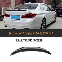 Para g30 m5 fibra de carbono tronco traseiro boot spoiler asa para g30 g38 f90 m5 2018 2019 etiqueta do carro