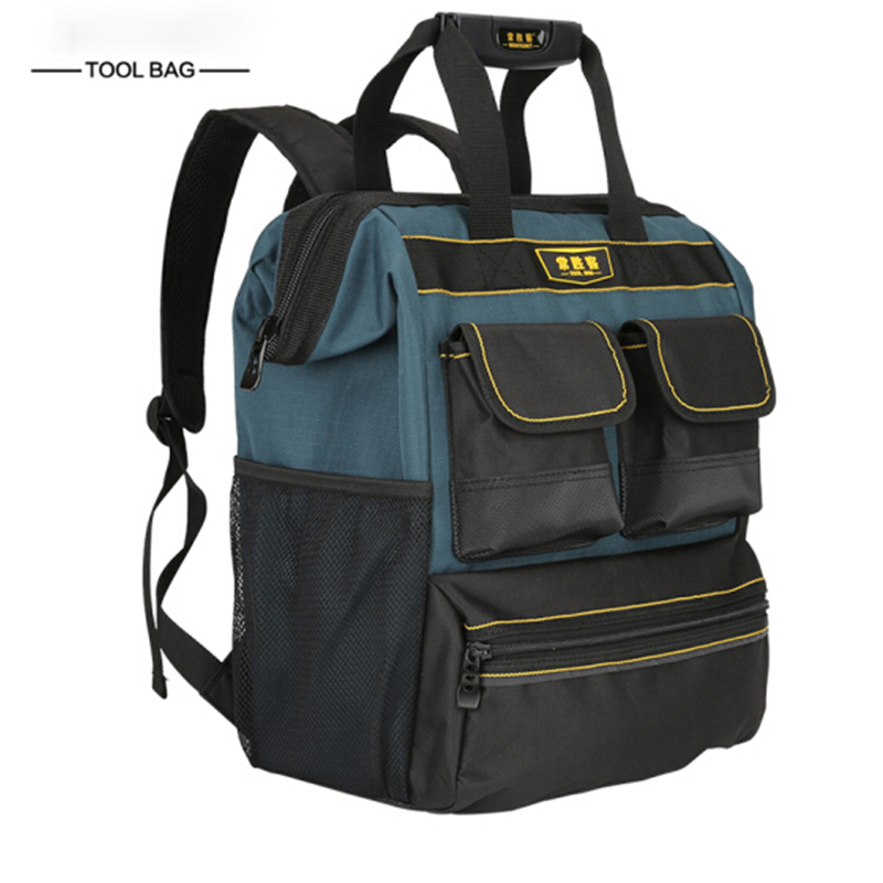 1PC Worksite Tool Backpack With Laptop Sleeve Tool Bags  Multifunction Knapsack For A Contractor Electrician Plumber HVAC