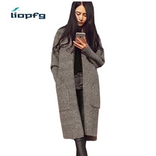 2017 new autumn sweater free blended shade trend sweater cardigan thick ladies sweater jacket wm433