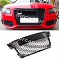 Front Grille Honeycomb Grill ,RS Style Auto Car Grille Fit For Audi A4 B8 RS4 S4 8K Black 2009-2012