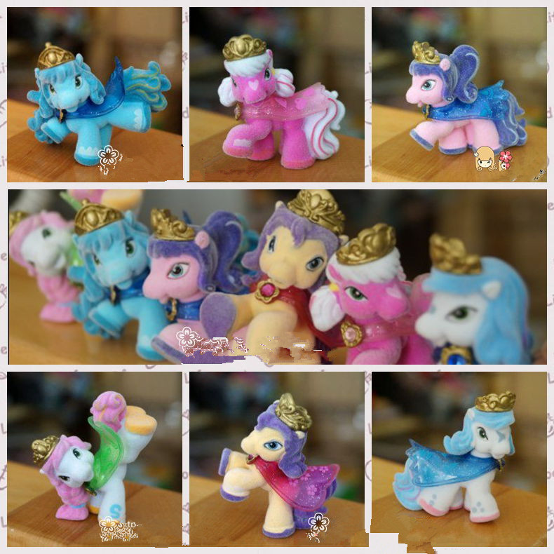 O for U Toy 5/10/15/20Pcs/lot Filly Witchy Series Little Horse Dolls Original Flocking Filly Horses Collection Action Doll 5CM ...