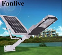 5pcs รีโมทคอนโทรล 10W 20W 30W 50 วัตต์ Street Light Solar Sensor โคมไฟกลางแจ้งเส้นทางกำแพงโคมไฟฉุกเฉิน