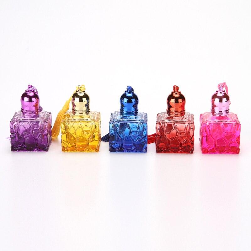Z31 10ML المياه مكعب مربع الزجاج الملون التجميل العطور غطاء اللون لفة على زجاجة 100 قطعة/الوحدة-في زجاجات التعبئة من الجمال والصحة على  مجموعة 1