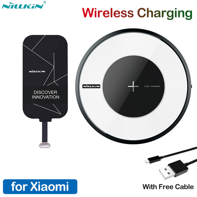 Nillkin Micro USB Type C Receiver Qi Wireless Charger for Xiaomi Mi 9 8 6 6X SE Mix 3 Poco F1 Redmi K20 7A Note 5 6 7 Pro Lite