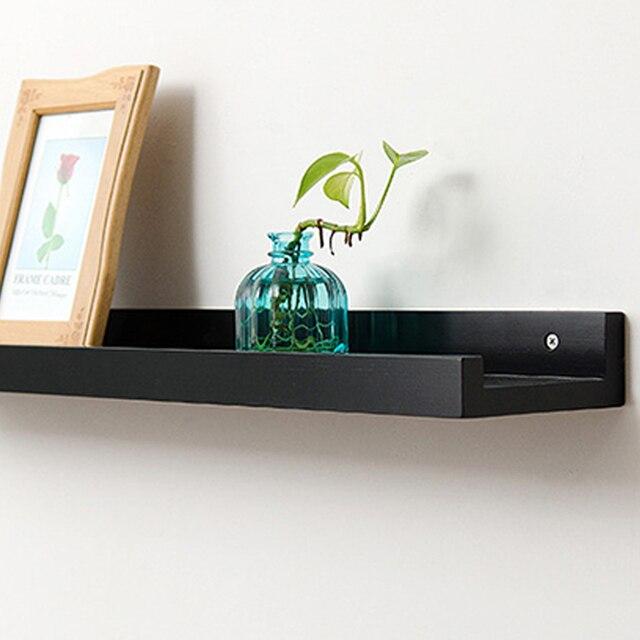 Bambú estante de la pared flotante cornisa almacenamiento estantes de pared  estante de la pared para 88823d42a0ae