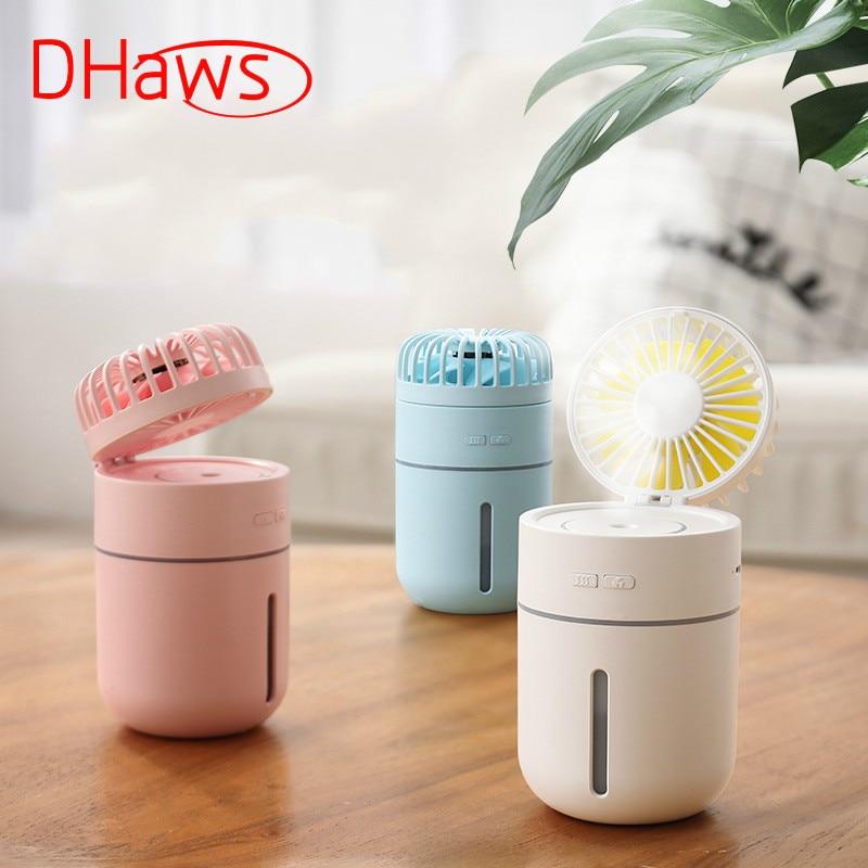 DHaws New 400ML Portable USB Fan Mini Handy Small USB Charging Humidifier Fan Desk Pocket Water Mist Fan Cooling Air Humidifier