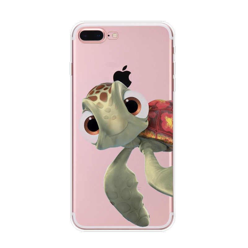 Для iphone 8 5 5S 6 6s Plus 7 Plus 2017 морская черепаха Силиконовые ТПУ милые Чехлы для телефона Морская Черепаха Животное задняя крышка мягкая задняя крышка