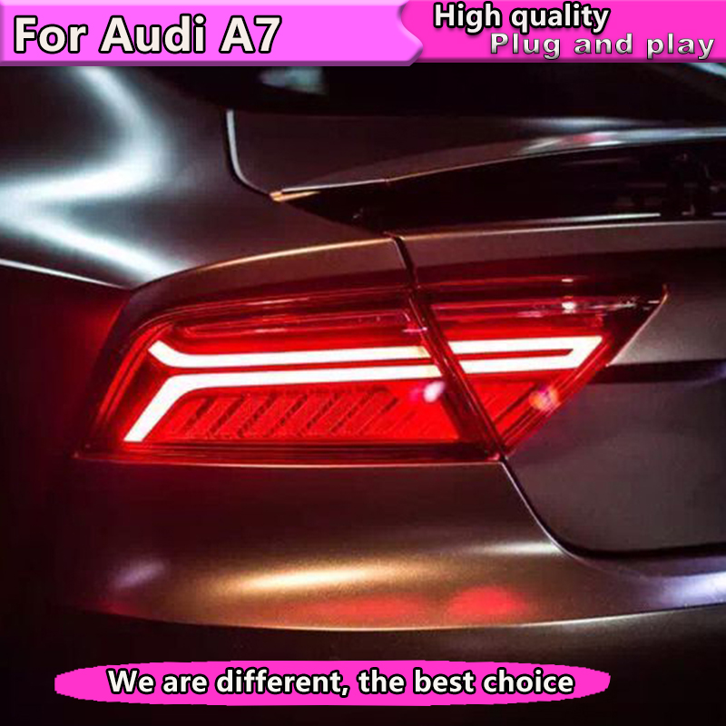 Car Styling Taillight Accessories For Audi A7 Tail Lights 2011 2012-2016 2017 LED Tail Light Rear Lamp Dynamic turn signal 2016 audi a7 tail lights