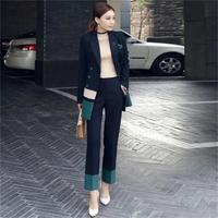 57075dab5d ... kobiety biuro biznes smokingi kurtka + spodnie kostium damski moda  profesjonalne nosić. Women Slim Pant Suits Female Suit New Lapel Women S  Business ...