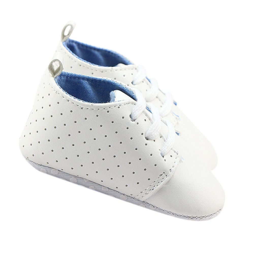 Hot Newborn Leather Baby Girl White Shoes Casual Breathable Soft Sole An-Slip Toddler Infant First Walker 0M-18M