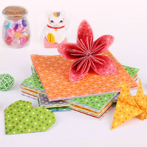 Deli color handmade paper 30/100 pcs color printing paper origami origami boat лампа ночная goodnight light paper boat
