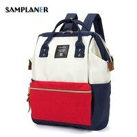 Panelled Waterproof Nylon Backpack 2017 Women Ladies Shopping Travel Bags Preppy Backpack Large Capacity College School