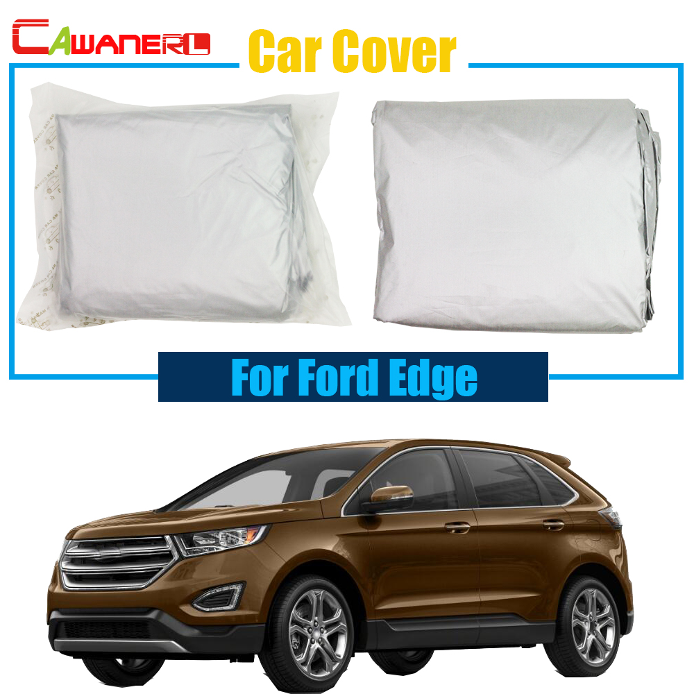 Cawanerl Car Cover Anti UV Sun Shield Snow Rain Resistant Protector Cover Sun Shade For Ford