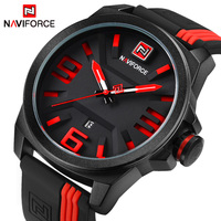 Luxury Brand NAVIFORCE Men Military Sports Watches Men S Quartz Date Clock Man Casual Leather Wrist
