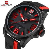 Luxury Brand NAVIFORCE Men Military Sports Watches Men S Quartz Date Clock Man Casual Leather Wrist