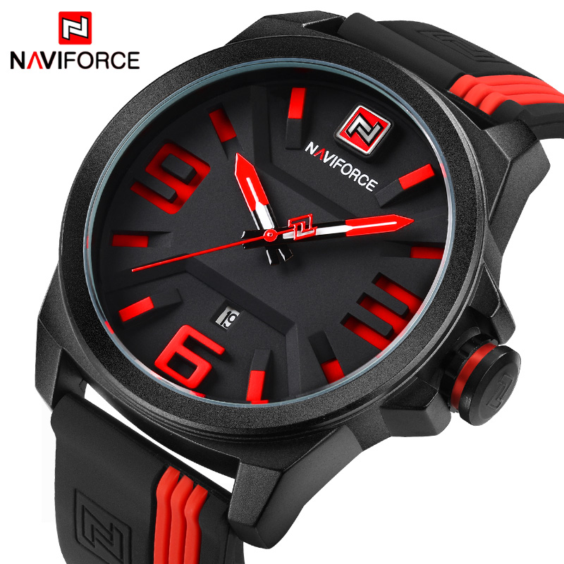 Luxury Brand NAVIFORCE Men Military Sports Watches Men's Quartz Date Clock Man Casual Leather Wrist Watch Relogio Masculino 2017 weide new men quartz casual watch army military sports watch waterproof back light men watches alarm clock multiple time zone