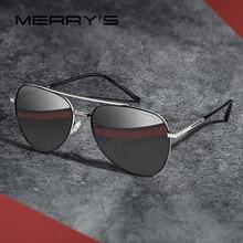 MERRYS DESIGN mężczyźni klasyczne okulary pilotażowe rama lotnicza HD spolaryzowane modne okulary słoneczne do jazdy ochrona UV400 S8218