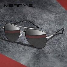 MERRYS تصميم الرجال الكلاسيكية الطيار النظارات الشمسية إطار الطيران HD الاستقطاب نظارات شمس أنيقة للقيادة حماية UV400 S8218