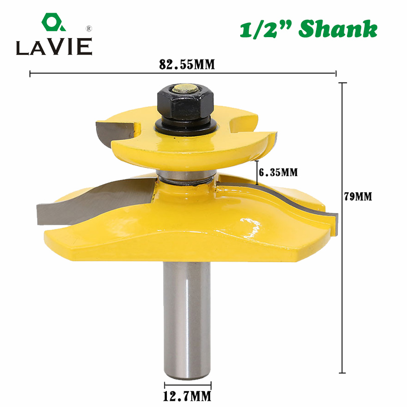 Image 2 - LAVIE 1pc 12mm 1/2 Inch Raised Panel Ogee Router Bit with Backcutter Tenon Cutter for Wood Woodworking Tools Power Tool MC03084Milling Cutter   -