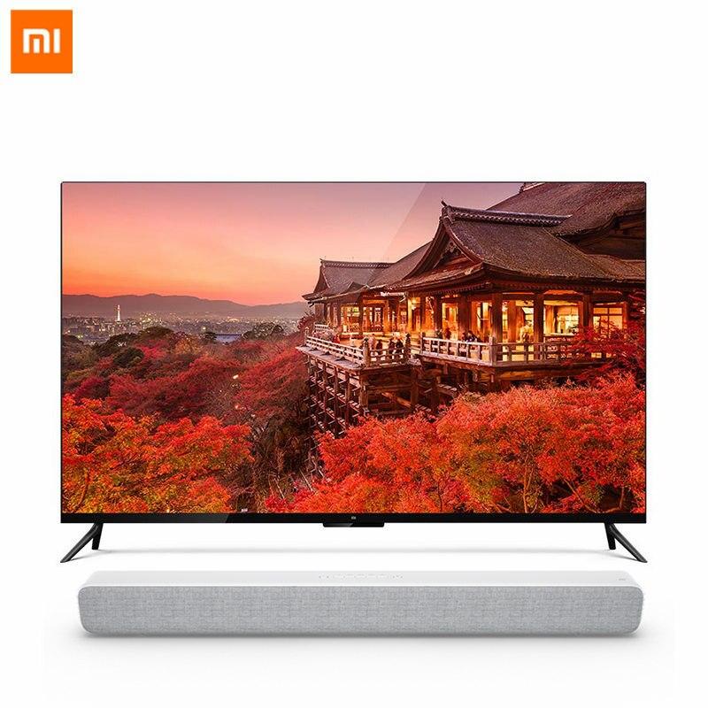 Оригинальный Xiaomi ТВ 4 55 дюймов Настоящее 4 К Smart 4,9 мм ультра-тонкий ТВ 2 ГБ + 8 ГБ памяти с голосовым дистанционным Управление с Xiaomi ТВ аудио ...