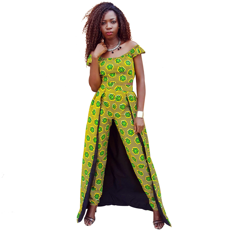 2017 summer African dresses for women Clothing style Irregular off ...