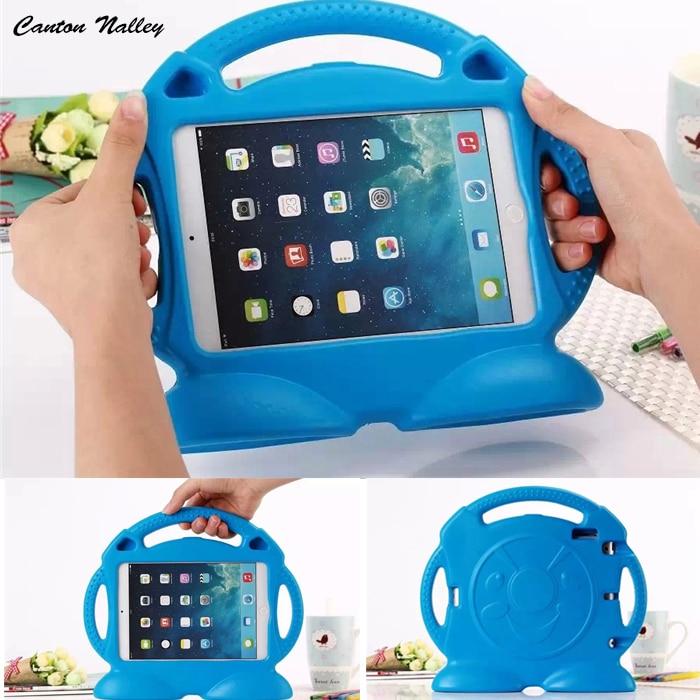 все цены на  Canton Nalley Case for ipad mini 1 / 2 / 3 Thomas handgrip stand Shock Proof EVA full body cover Kids Children Safe Silicon case  онлайн
